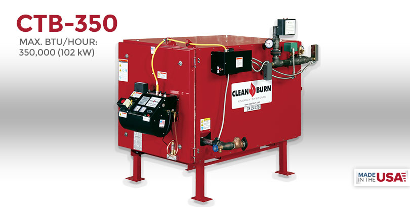 CTB-350, Waste Oil Furnace, Used Oil Furnace, Furnace, Clean Burn, Model CB-200, 350,000 BTU/hr.